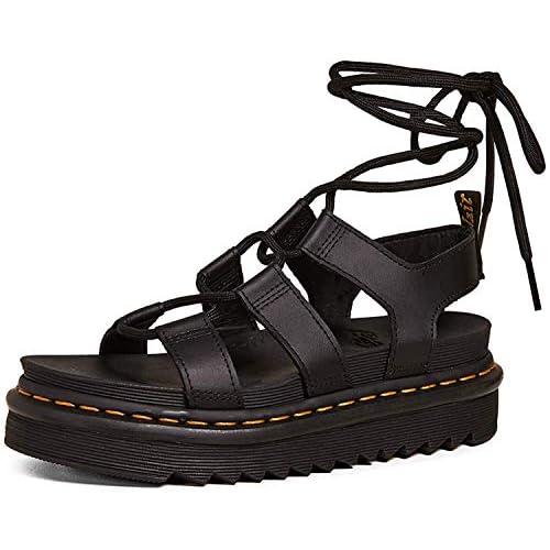 Dr. Martens Nartilla Hydro, sandalo da donna, Nero (Cruz V2 Fresh Foam), 36.5 EU