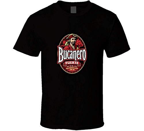 Hayapse Bucanero Beer Cuba Cerveza Logo T Shirt Black Medium
