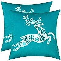2-Pack TeaGan Throw Pillow Covers (various)