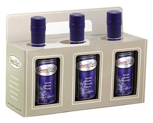 Balsamico Creme Geschenkbox 3x 0,35L Crema Mango / Birne / Haselnuss in premium Qualität