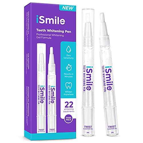 iSmile Teeth Whitening Pen - 35% Carbamide Peroxide, No Sensitivity, Travel-Friendly, Easy to Use, 2mL, 2 Pack