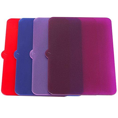 Neewer® 4piezas Universal transparente iluminación filtro de color (rojo, azul, rosa, morado) para Neewer, Nanguang CN126, y CN160CN216fotografía luz de...
