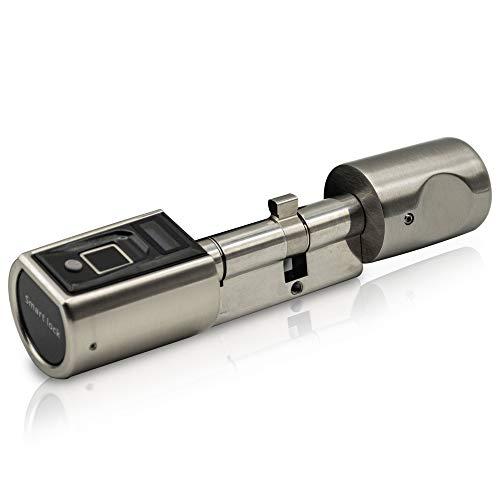 SOREX FLEX - Türschloss biometrisch mit deutschem Support! Türöffner mit Fingerabdruck und RFID Zylinder | Keine Schlüssel nötig | Keyless Smart Lock | elektronisches Schloss