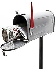 US brievenbus brievenbus Amerikaanse ontwerp zilverkleurig met standaard