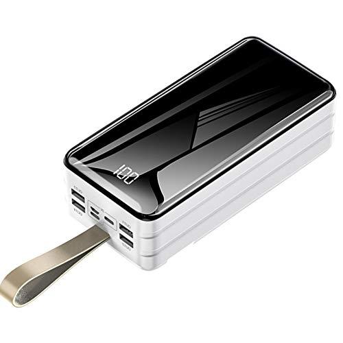 Power Bank 60000Mah Cargador Portátil Paquete De Baterías Externas De Alta Capacidad con Pantalla Digital LED Y Linterna Y 4 Salidas USB, Powerbank De Carga Ultrarrápida para Teléfonos Y Más