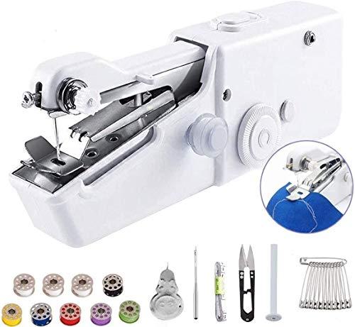 LBHH Máquina de Coser,Mini máquina de Coser portátil inalámbrica práctica,Mini máquina de Coser para Ropa de niños,hogar,Accesorios de Bricolaje (batería no incluida) 1 Piezas