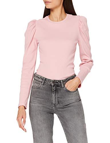 PIECES Damen PCANNA LS TOP NOOS BC T-Shirt, Zephyr, M