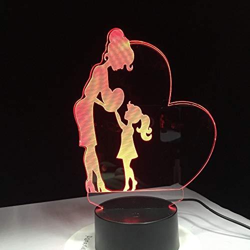 Muttertagsgeschenk Liebe Mutter Lichtfarbe Nachtlicht Tochter Geschenk Schlaflicht Familie Dekoration Licht