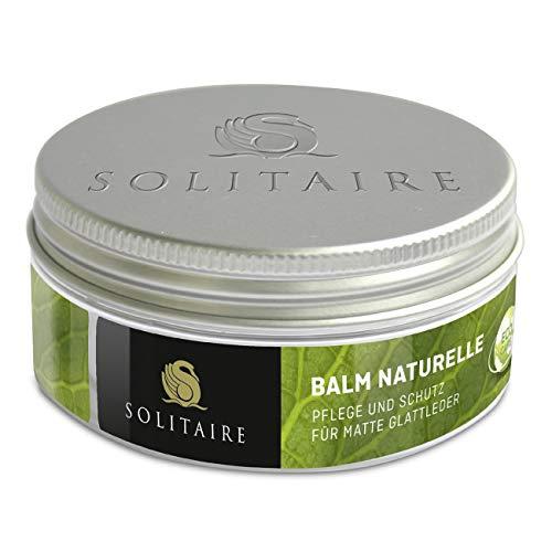 Solitaire Eco Care BALM NATURELLE 75 ml farbloses Balsam zur Pflege für Schuhe, Taschen und Kleidung aus Leder Schuhpflege, 75.00 ml 80. grams 75. ml