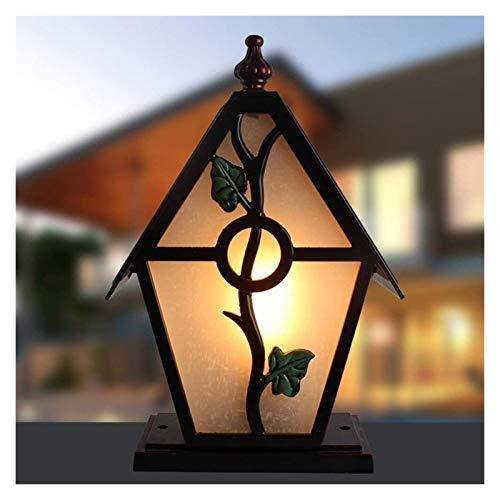 Luz de poste Americana lámpara al aire libre del anuncio IP55 a prueba de agua Columna clásico europeo de la lámpara creativa del vidrio esmerilado de la linterna del anuncio Decoración Camino Calle P