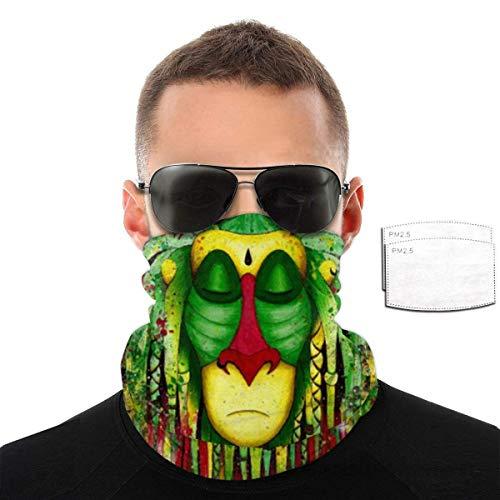 Mamihong Rasta Rafiki Sturmhaube Schal Halswärmer Maske Anti-Staub-Gesichtsmaske mit 6 Filter BAL-985