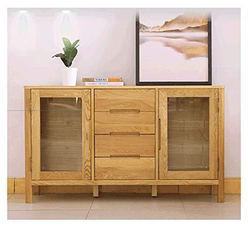 HLZY Armario lateral de acento, gabinetes de almacenamiento de madera, buffet, entrada, bar, gabinete de almacenamiento, cocina, sala de estar, comedor, aparador, decoración de muebles