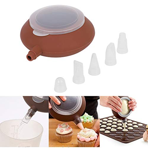 Oumefar Cake Decor Düse Wiederverwendbares Backdekor-Werkzeug Groß Leichtgewicht für Macaron für Restaurant