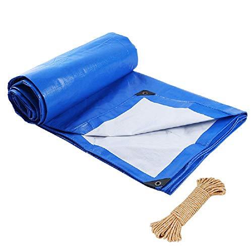 JY&WIN dekzeil voor zware vrachtwagens, waterdicht, met touw, voor tent en tent buiten, 4 m x 8 m 5mx5m