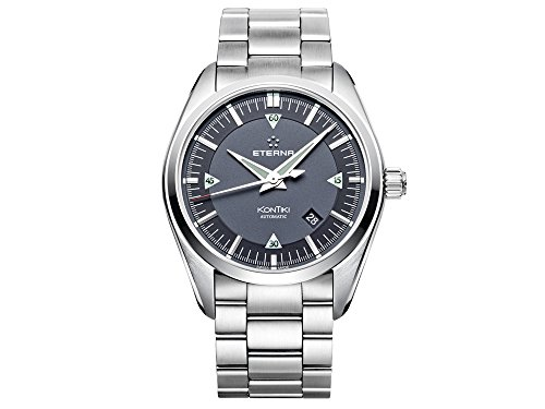 Eterna KonTiki Date Automatik Uhr, SW 200-1, Grau, Stahlband, 1222.41.41.0217