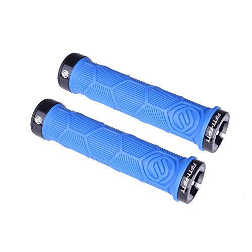 FIFTY-FIFTY Dual Lock-on Mountain Bike Grips (Blue)