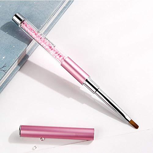Jieqiong Portez Le Couvercle Brosse de Maquillage Sourcils féminins Brosse Mini Petit correcteur Brosse Courte Brosse à lèvres,Rose