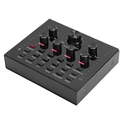 Mini Sound Mixer Board für Live-Streaming 12 Arten von Sound Effects Voice Changer Soundkarte für Computer Tablet Phone
