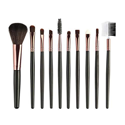 ASDHOI Pinceaux Kit Set Eye Shadow sourcils Fondation Pinceau Poudre cosmétiques pinceaux de maquillage, 10 pièces (Couleur : 02, Size : One Size)