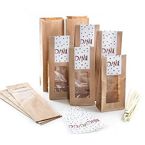 10 kleine Geschenkschachteln Geschenk-Boxen Kartons, weiß 14,5 x 10,5 + 3 cm mit Aufkleber Banderole