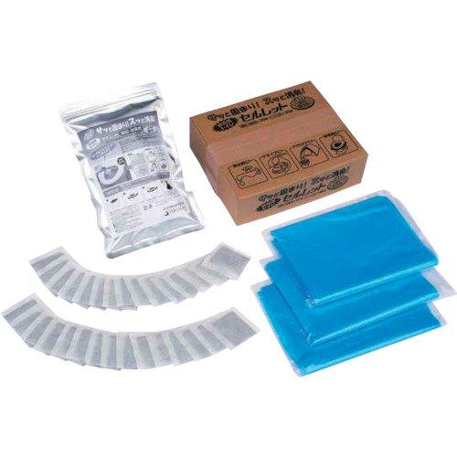 【サッと固まり! スッと消臭!】 非常用トイレ セルレット (凝固・消臭剤&汚物袋) 50回セット 870239