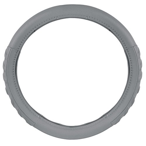 BDK Comfort Grip Sport Grip BPA Free Odorless Steering Wheel Cover - (Gray)