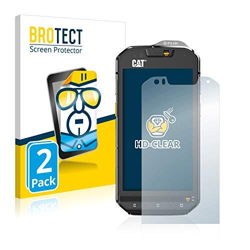 BROTECT Schutzfolie kompatibel mit Caterpillar Cat S60 (2 Stück) klare Bildschirmschutz-Folie