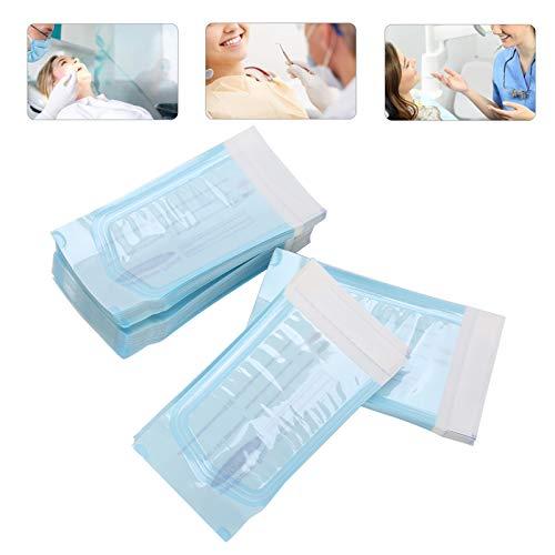 Selbstversiegelnder Sterilisationsbeutel, Dental Aufbewahrungsbeutel Einweg Selbstsiegelnder Reinigungsbeutel für Dentalmaterialien Werkzeug, Dental Sterilisationsbeutel für Zahnarztpraxen 200 Stück,