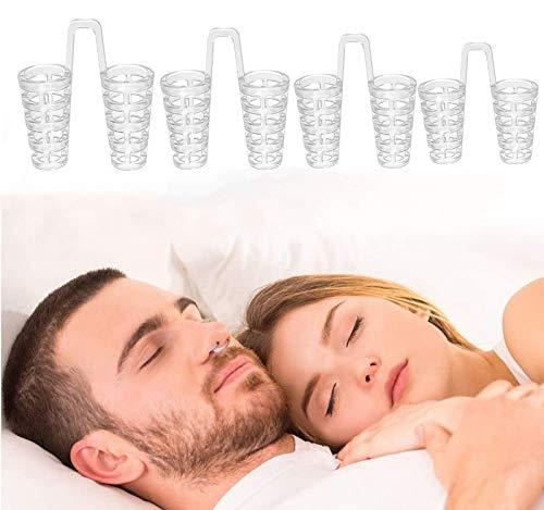Dispositivos antirronquidos Tapón de ronquidos, Alivio de la respiración Dilatador Nasal Dormir reparador por la Noche para Hombres y Mujeres Paquete, Gel de sílice Ayudas para Reducir los ronquidos