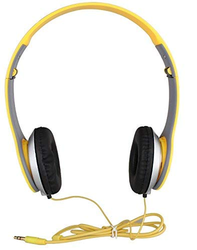 Dronean QER45 Wired Solo HD Headphones Deep Bass Soft and Comfortable Ear Cups Flexible Body Compatible with All Mobile Phones [Multicolor]