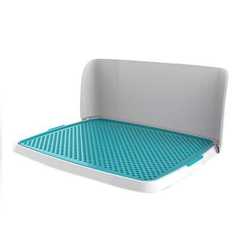LT Hundetraining Pad WC faltbare Pet Litter Tray Zaun Design leicht zu reinigen Töpfchen (Color : Blue, Size : L)