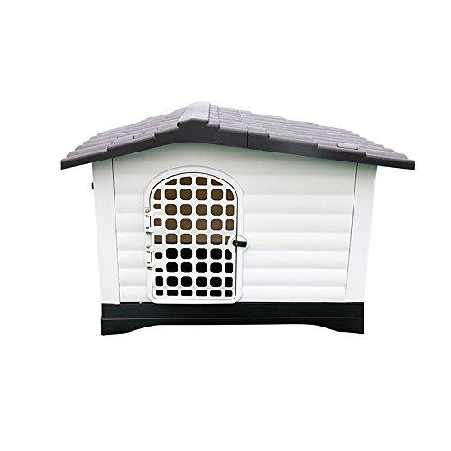 YQQ Grand Chenil Cage Pet Maison en Plastique Golden Retriever Nid De Chat Amovible Et Lavable Lit pour Chien Fossa Chien D'extérieur Imperméable