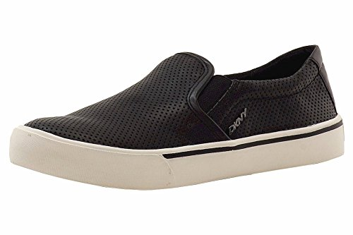 DKNY Donna Karan Women's Bess Black Leather Fashion Sneakers Shoes Sz: 9