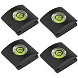 Hot Shoe Level, ChromLives Camera Bubble Level Hot Shoe Bubble Level Combo Pack 3 Axis 2 Axis 1 Axis Compatible with DSLR Film Camera Canon Nikon Olympus (4 Pack Hot shoe Level)