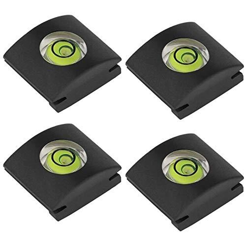 ChromLives Kamera Blitzschuh Blitzschuhabdeckung Blitzschuh Schutzfolie Wasserwaage für Digitale Einzelobjektiv Spiegelreflexkamera Canon Sony Panasonic Fujifilm Olympus Pentax und mehr 4Pack