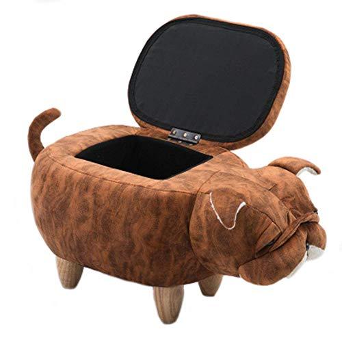 Bagagli Dog Poggiapiedi Ride-On poggiapiedi animale imbottito Sgabello Mobili decorativi, [Classe energetica A],Colora
