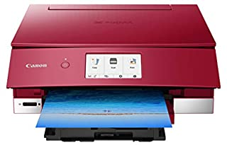 Canon TS8220 Wireless All in One Photo Printer with Scannier and Copier, Mobile Printing, Red, Amazon Dash Replenishment Ready (B07G5XZVLK) | Amazon price tracker / tracking, Amazon price history charts, Amazon price watches, Amazon price drop alerts