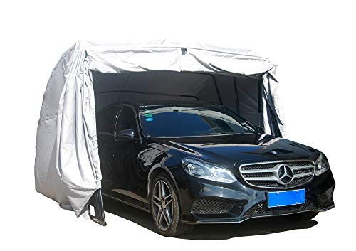 Ikuby All Weather Proof Carport, Car Shelter, Car Canopy, Car Garage, Car shed, Car House, Car Park, Foldable, Retractable, Lockable, Durable Shelter