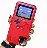 WODETIAN Funda Game para iPhone 11/iPhone 11 Pro/iPhone 11 Pro MAX Funda Protectora De Teléfono 3D Retro con 36 Juegos Pequeños Pantalla A Todo Color Game A Prueba de Golpes Case,Rojo,11pro