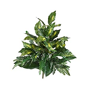 """for Mixed Greens Artificial Plant Realistic Home Decor 25"""" Set of 2 Floral Décor Home & Garden"""