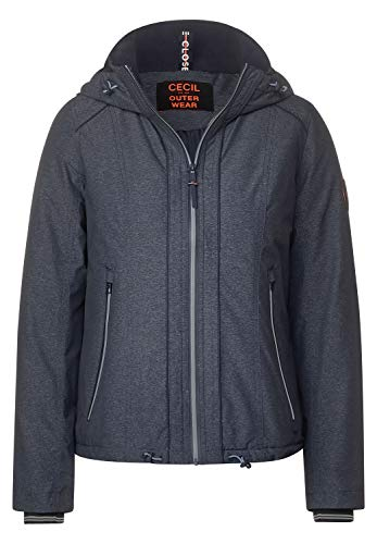 Cecil Damen Windbreaker in Melange-Optik deep Blue Melange M