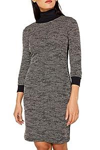 ESPRIT Damen 109Ee1E023 Kleid, Schwarz (Black 4 004), X-Large (Herstellergröße: XL)