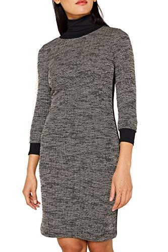 ESPRIT Damen 109Ee1E023 Kleid, Schwarz (Black 4 004), Medium (Herstellergröße: M)