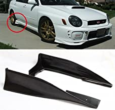 Side Body Strake For 2002 2003 2004 2005 2006 2007 Subaru Impreza WRX PU Side Skirts Rear Spats Apron Kit