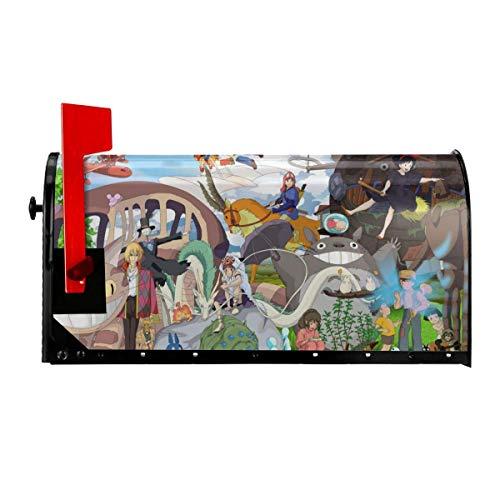 Paquete postal magnético para buzón de correo, diseño de anime japonés, para exteriores, buzón de correo electrónico, decoración original para el hogar, dos tamaños en/25.5 pulgadas
