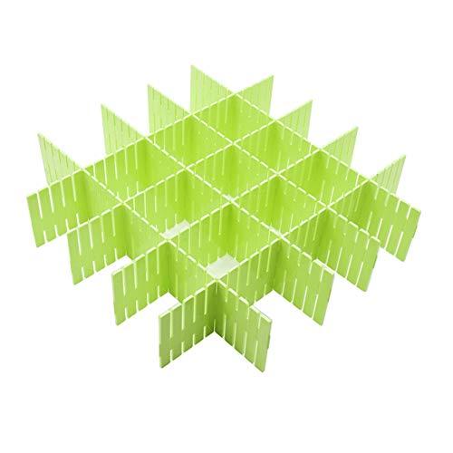 WeFoonLo 8pcs DIY Plastikfach Organisator justierbare Fach Teiler für Haus Tidy Closet, Socken, Unterwäsche, Büroschulbedarf, Küchegerätwerkzeuge (grün)
