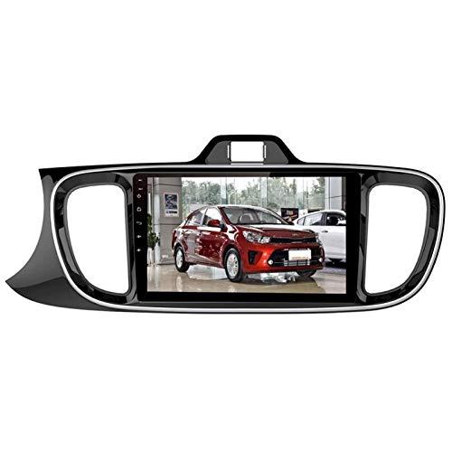 Android 8.1 Bluetooth Car Stereo Video para KIA SOLUTO 2018-2019, Pantalla Táctil Capacitiva De 9 Pulgadas/BT/MirrorLink/SWC/Vista Posterior Cámara,4 core-4G+WiFi: 1+16G