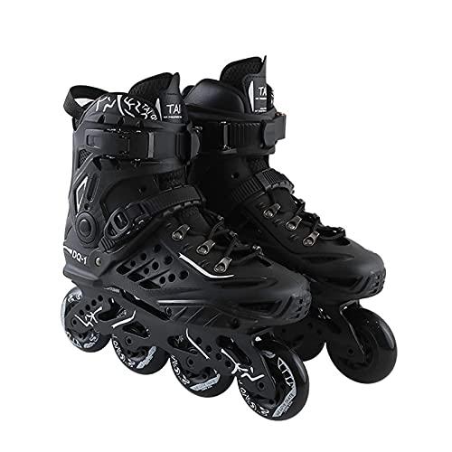 QDCZDQ Inline Skates Erwachsene Rollschuhe, Outdoor Freestyle Inline Skates für Teens, Damen und Herren Fitness Speed Skating Schuhe für Anfänger