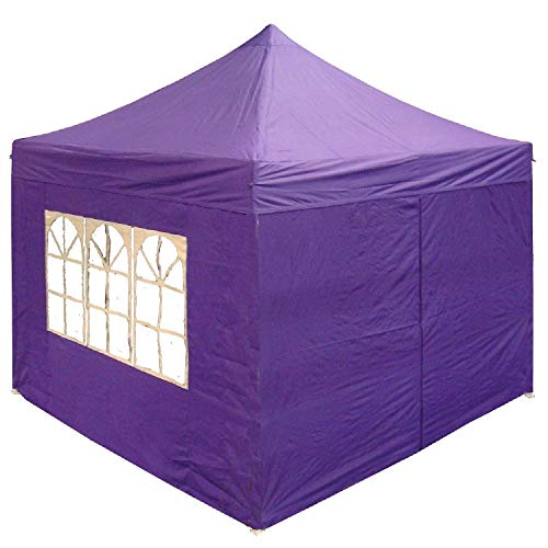 DELTA Canopies 10'x10' Ez Pop up Canopy Party Tent Instant Gazebo 100% Waterproof Top with 4 Removable Purple - E Model