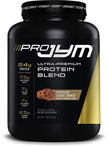 Pro JYM Protein Powder - Egg White, Milk, Whey Protein Isolates & Micellar Casein | JYM Supplement Science | Chocolate Cookie Crunch, 4 lb, JYM5130007